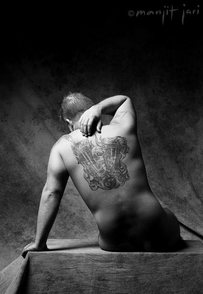 Männer Aktfoto von Atelier für Fotografie fotografiert