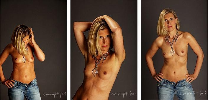 Serie von Aktfotos von einer Frau von Manjit Jari fotografiert