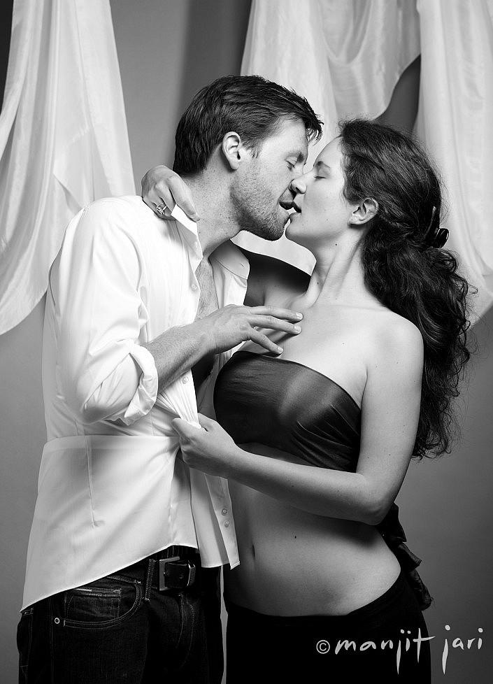 Hier ein Paarfoto, nochmals ein Sexy Porträit im Atelier für Fotografie fotografiert